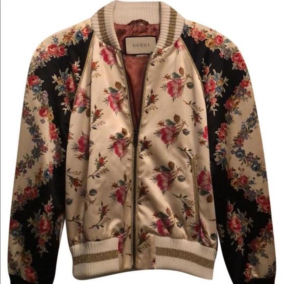 62097f0d336 Gucci Jackets & Coats | Fication Silk Bomber Jacket | Poshmark